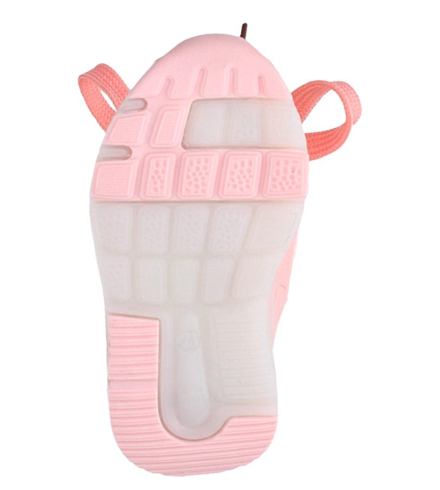 Różowe buty sportowe sznurowane Casu 332 wysokosc_platformy 1 cm