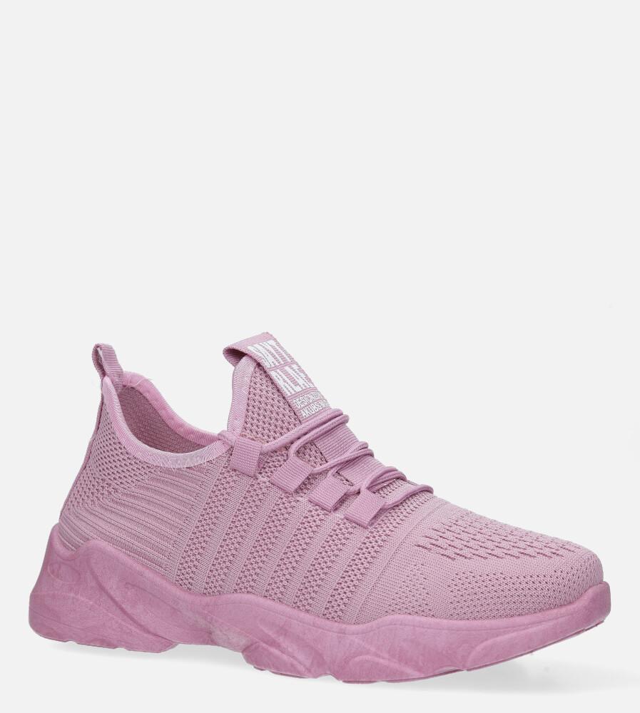 Różowe buty sportowe sznurowane Casu 1106