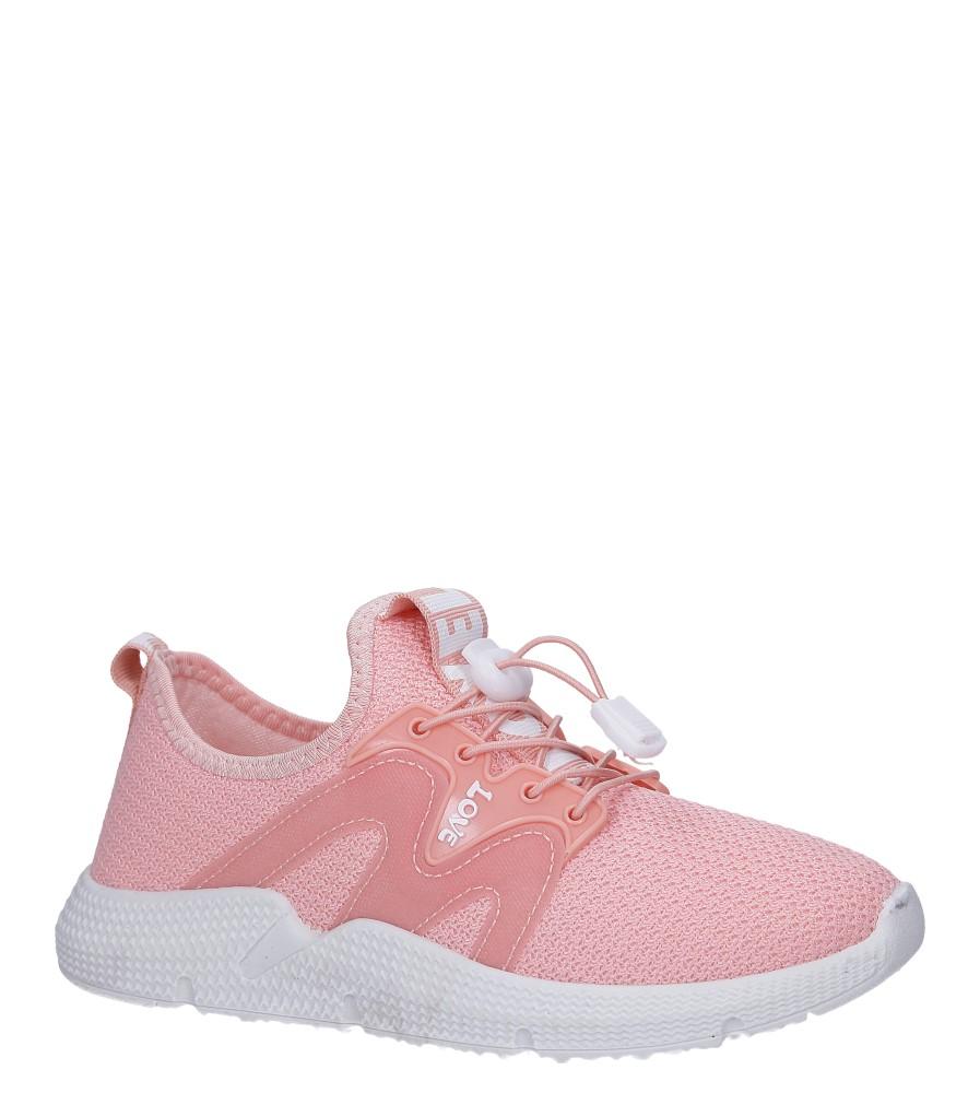Różowe buty sportowe sznurowane Casu 122A
