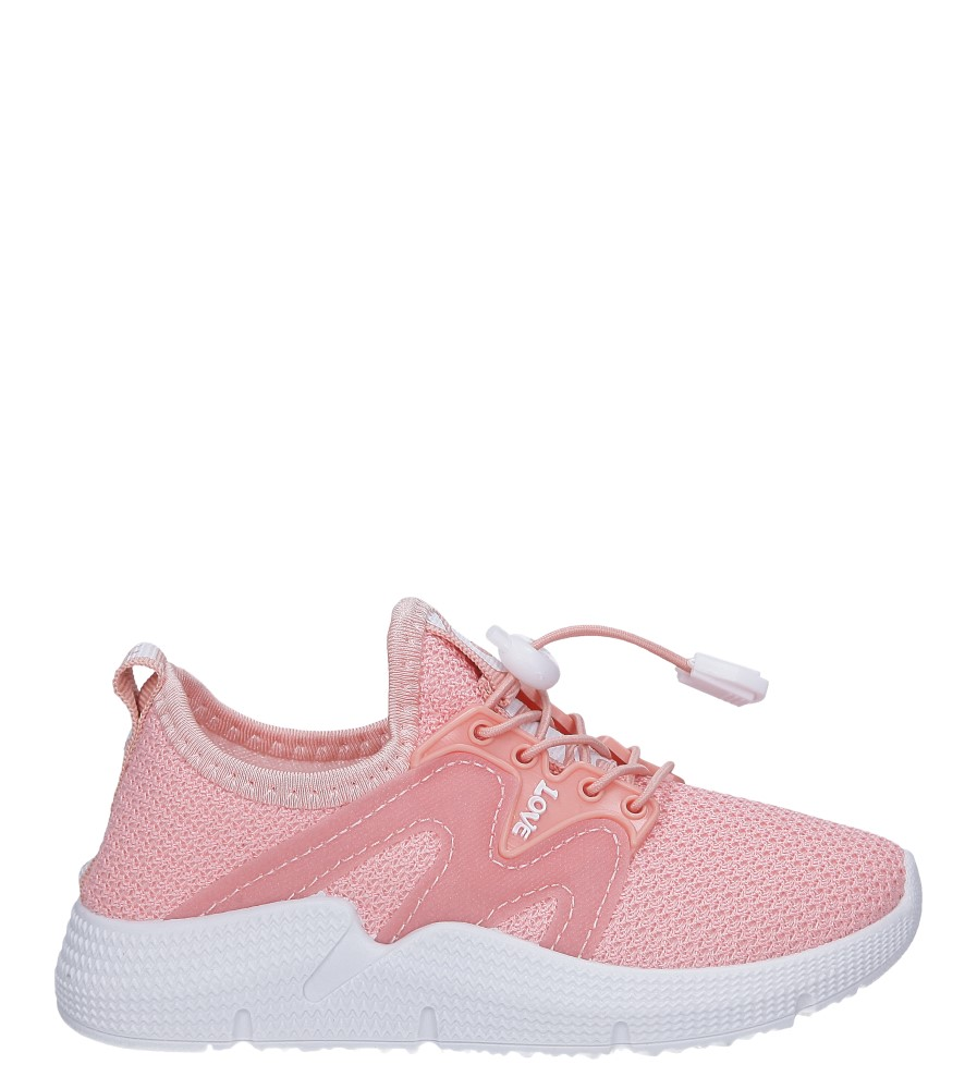 Różowe buty sportowe sznurowane Casu 122B