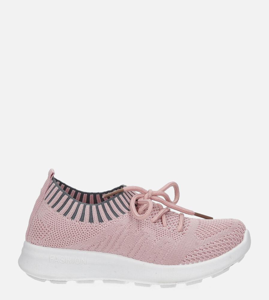 Różowe buty sportowe sznurowane Casu 1951