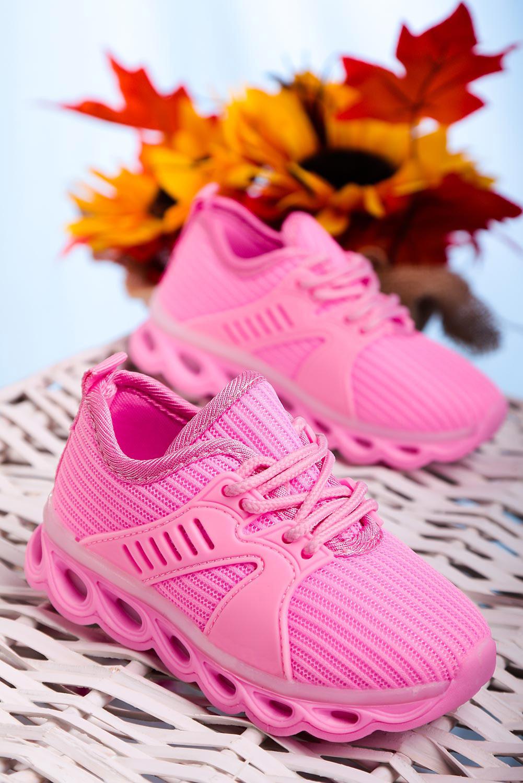 Różowe buty sportowe sznurowane Casu 204/25M  producent Casu
