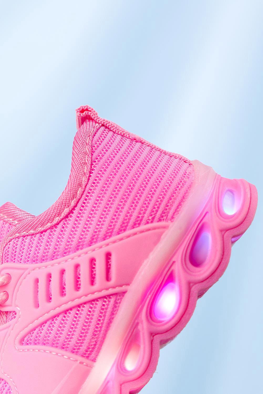 Różowe buty sportowe sznurowane Casu 204/25M