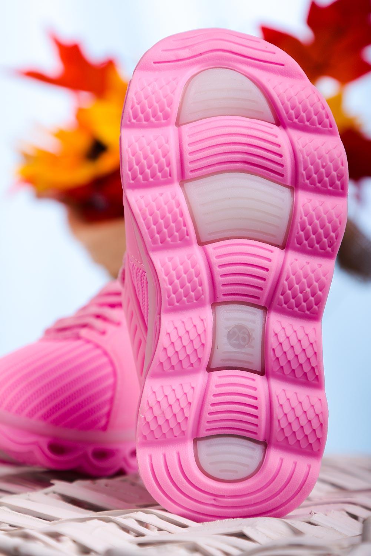 Różowe buty sportowe sznurowane Casu 204/25M  sezon Całoroczny