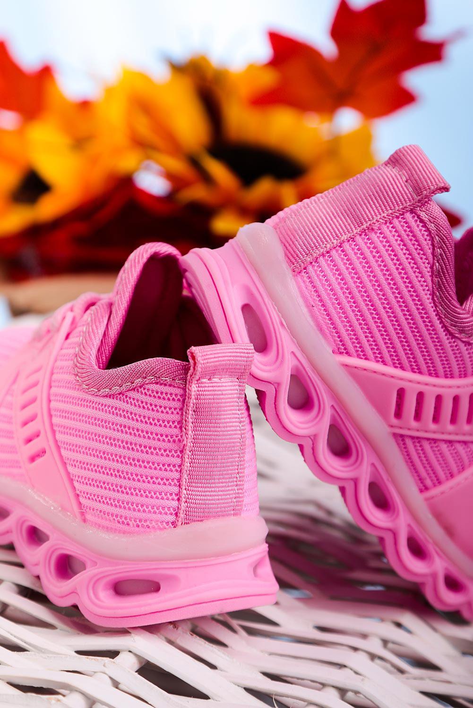 Różowe buty sportowe sznurowane Casu 204/25M  kolor różowy