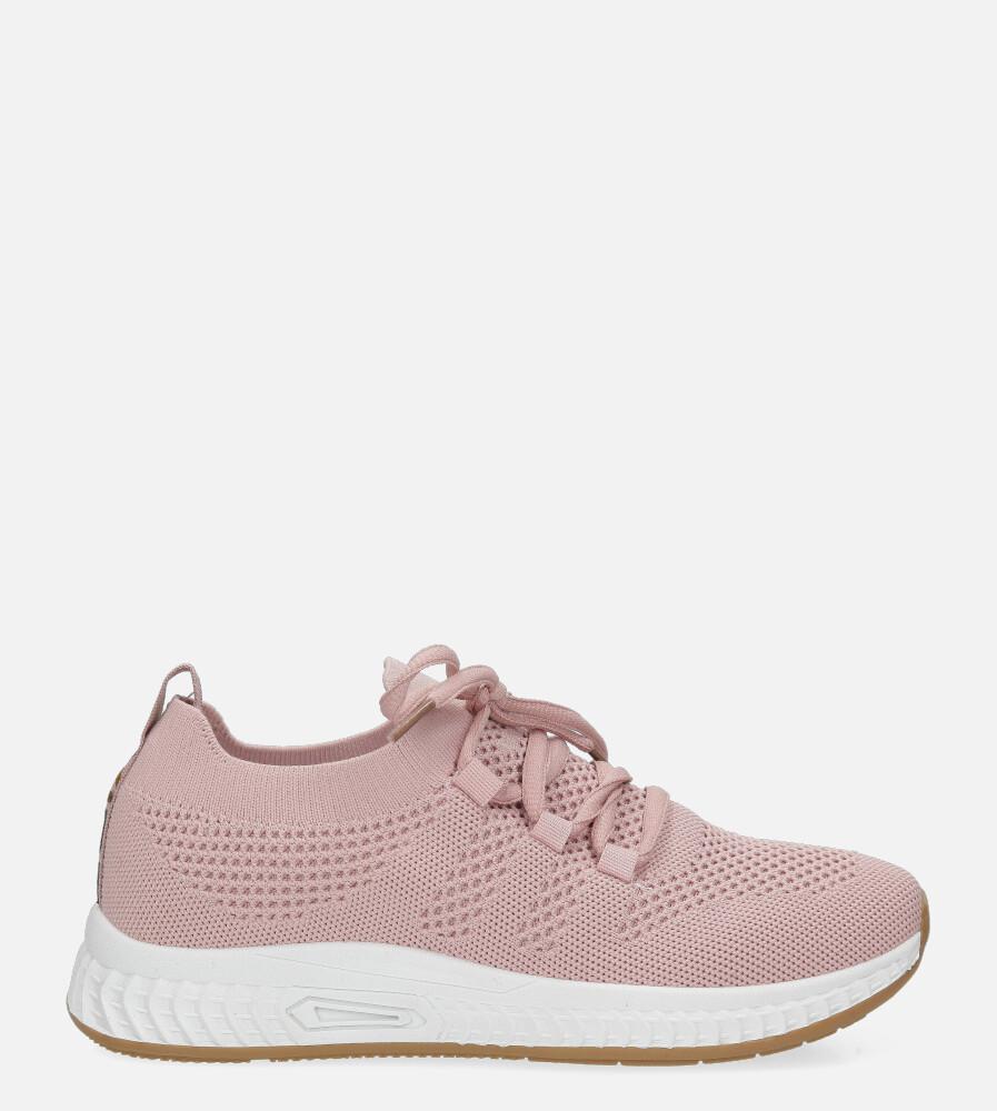 Różowe buty sportowe sznurowane Casu 20P7/M różowy