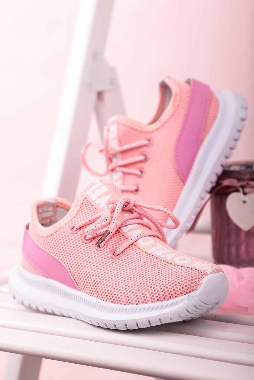 Różowe buty sportowe sznurowane Casu 20T1/M producent Casu