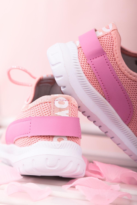 Różowe buty sportowe sznurowane Casu 20T1/M sezon Całoroczny