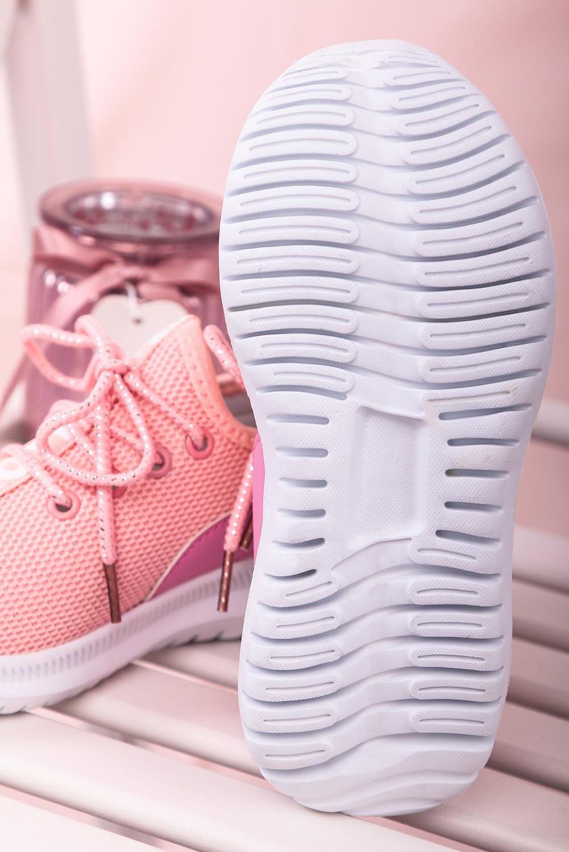Różowe buty sportowe sznurowane Casu 20T1/M kolor różowy