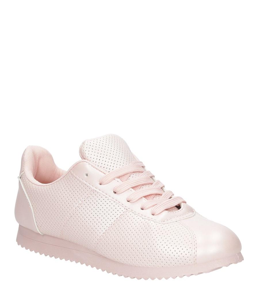 Różowe buty sportowe sznurowane Casu 87-3A