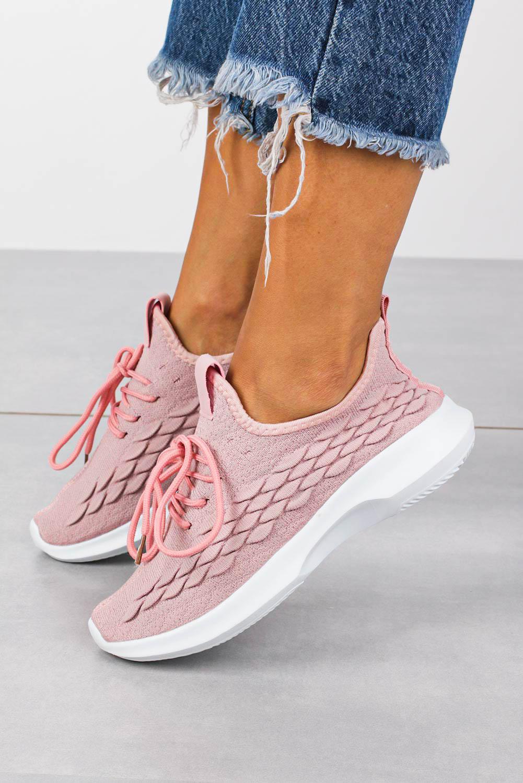 Różowe buty sportowe sznurowane Casu B729-2 różowy