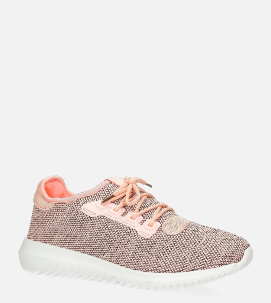 Różowe buty sportowe sznurowane Casu B8711 różowy