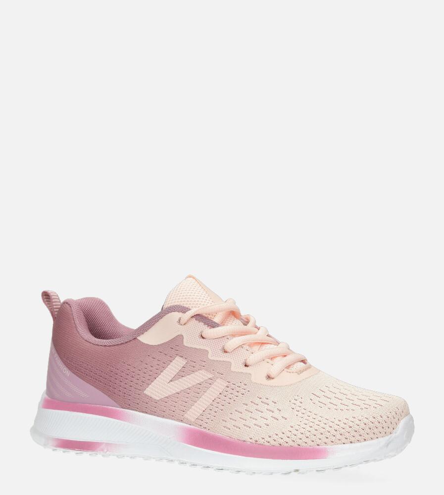 Różowe buty sportowe sznurowane Casu B97-5 różowy