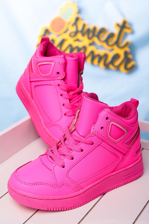 Różowe buty sportowe sznurowane Casu C917 różowy