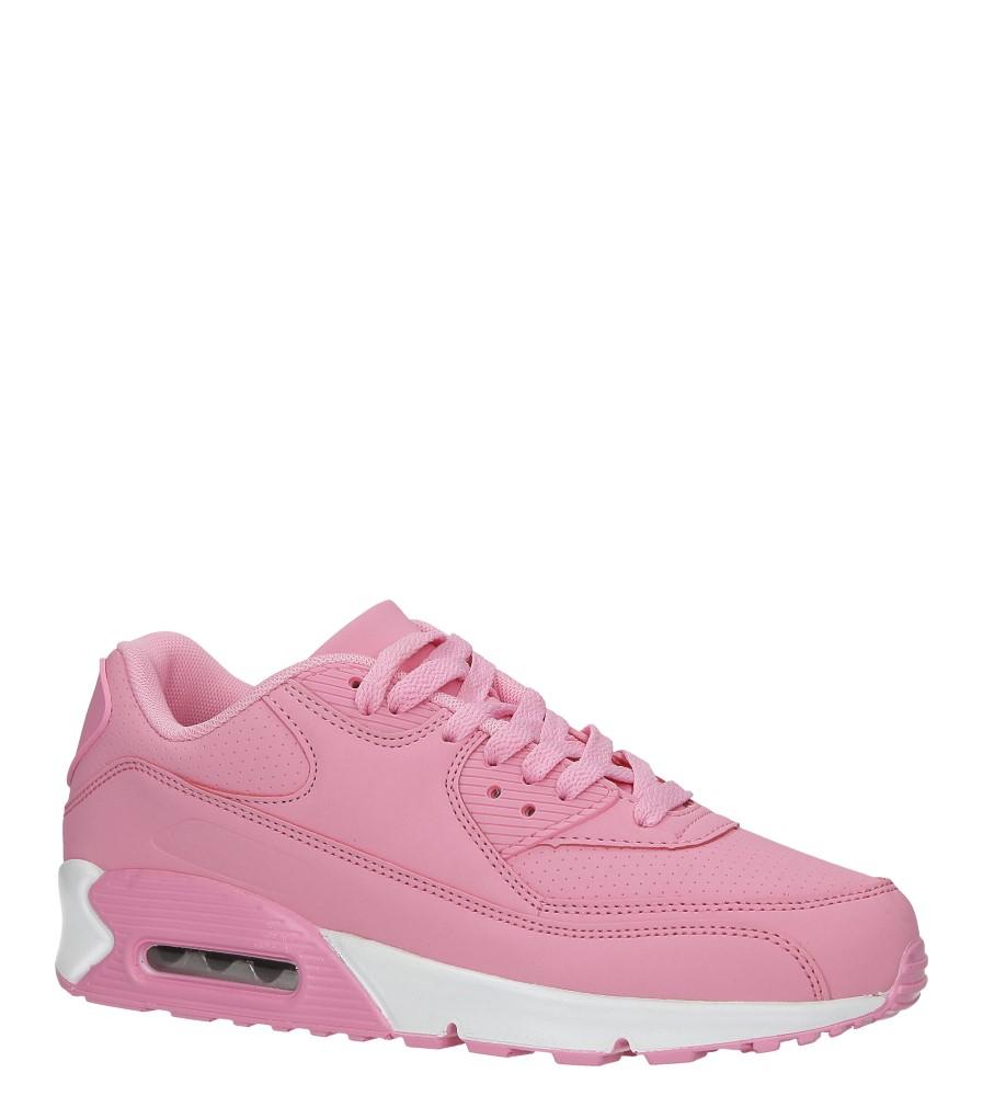 Różowe buty sportowe sznurowane Casu D718-22