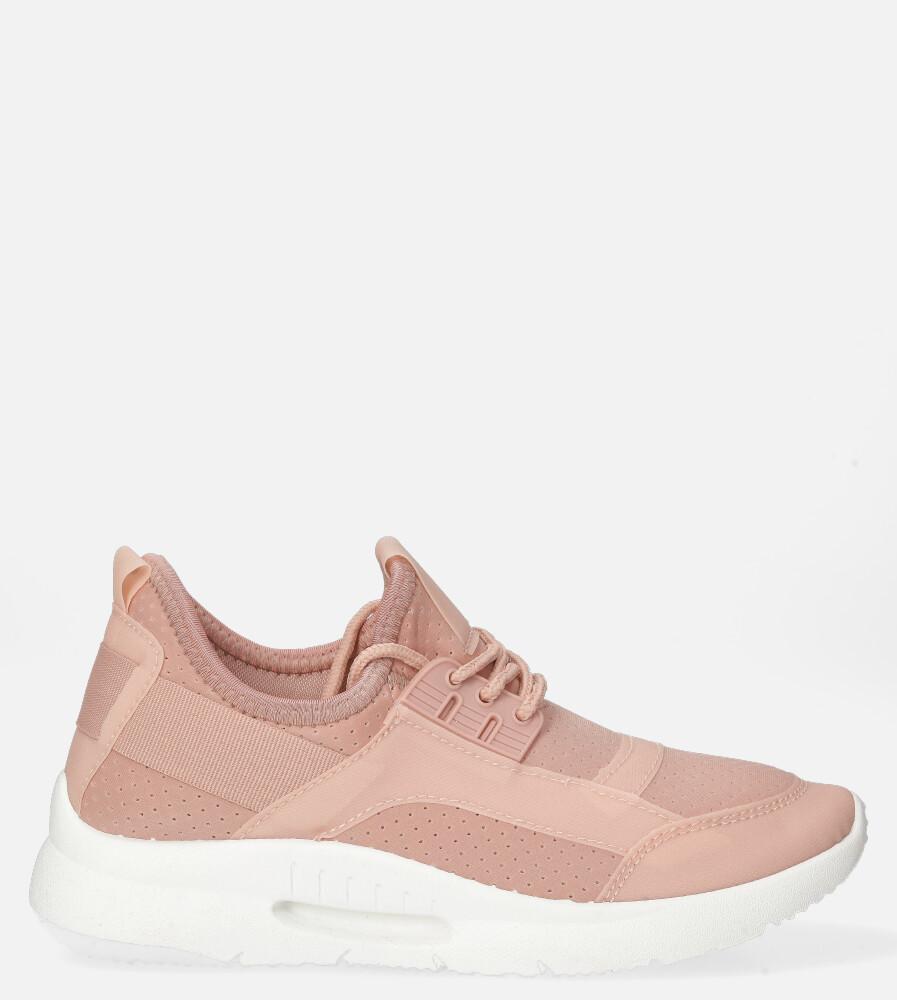 Różowe buty sportowe sznurowane Casu DS12001-12 różowy
