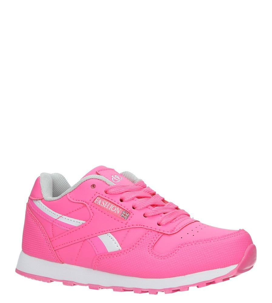 Różowe buty sportowe sznurowane Casu FA353 producent Casu