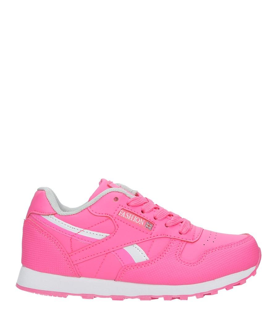 Różowe buty sportowe sznurowane Casu FA353
