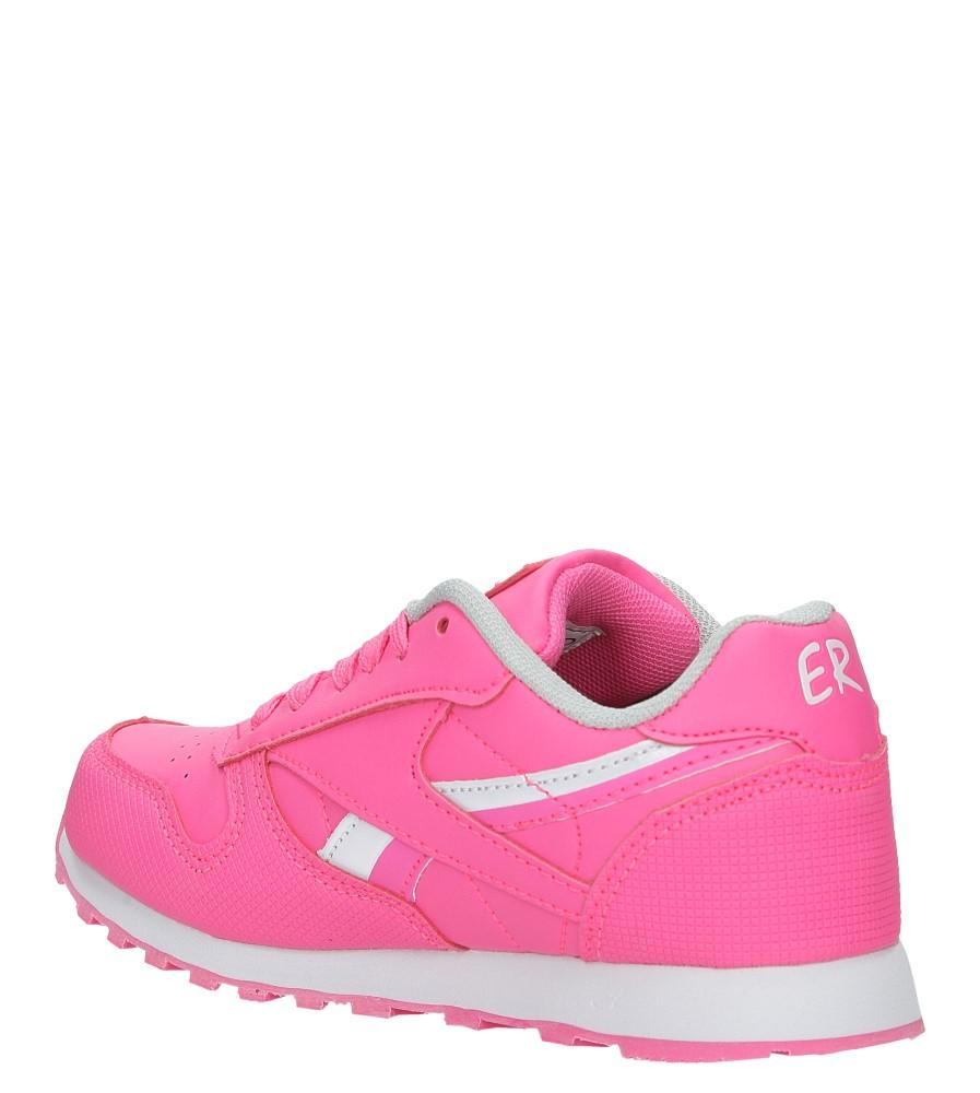 Różowe buty sportowe sznurowane Casu FA353 sezon Całoroczny