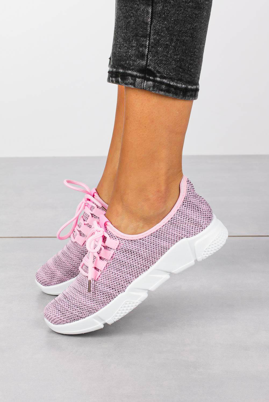 Różowe buty sportowe sznurowane Casu H663-1709 różowy