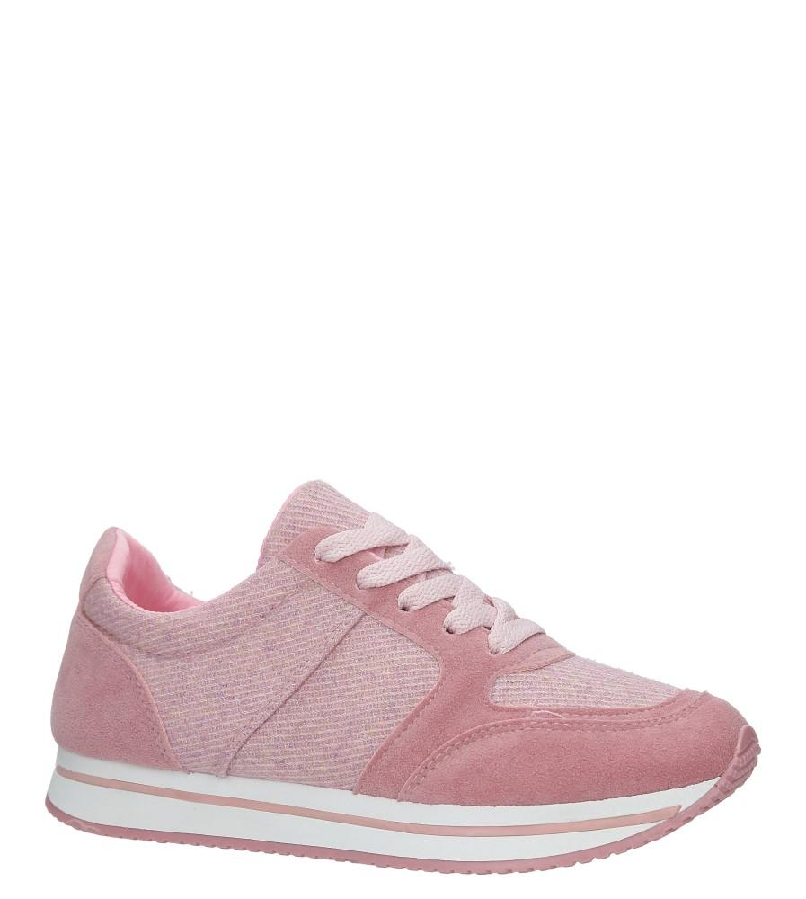 Różwe buty sportowe sznurowane Casu HR61225 różowy