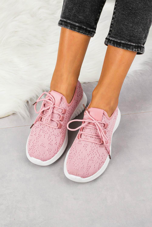 Różowe buty sportowe sznurowane Casu YZ09-3 różowy