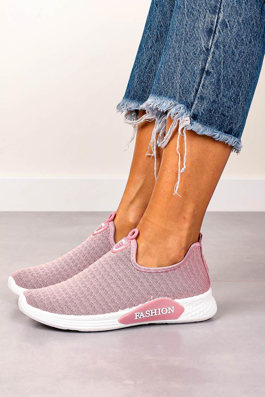Różowe buty sportowe wsuwane Casu 20P5/M