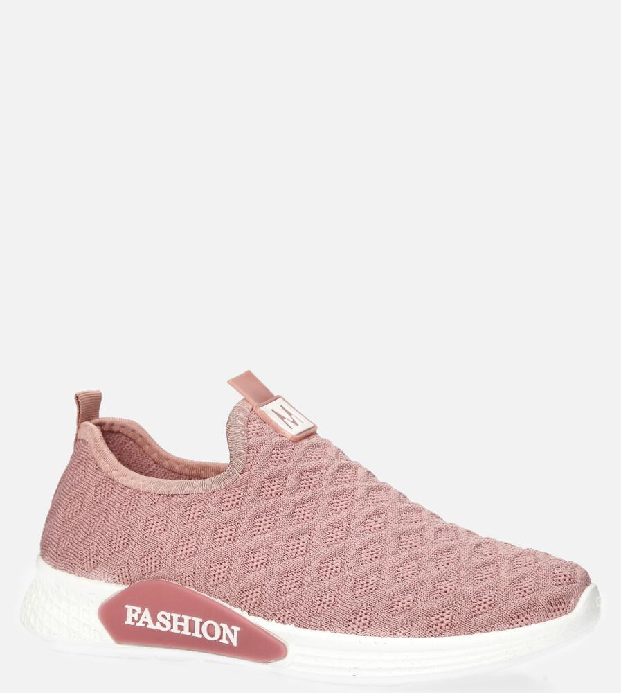 Różowe buty sportowe wsuwane Casu 20P5/M różowy