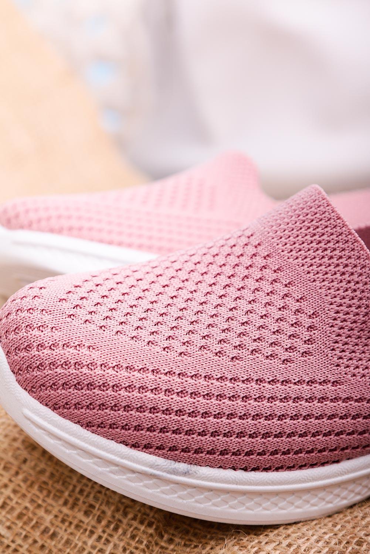 Różowe buty sportowe wsuwane slip on Casu 11004-9 różowy