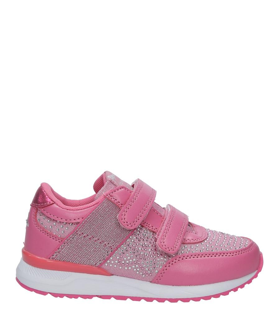 Różowe buty sportowe z cyrkoniami na rzepy American K17326