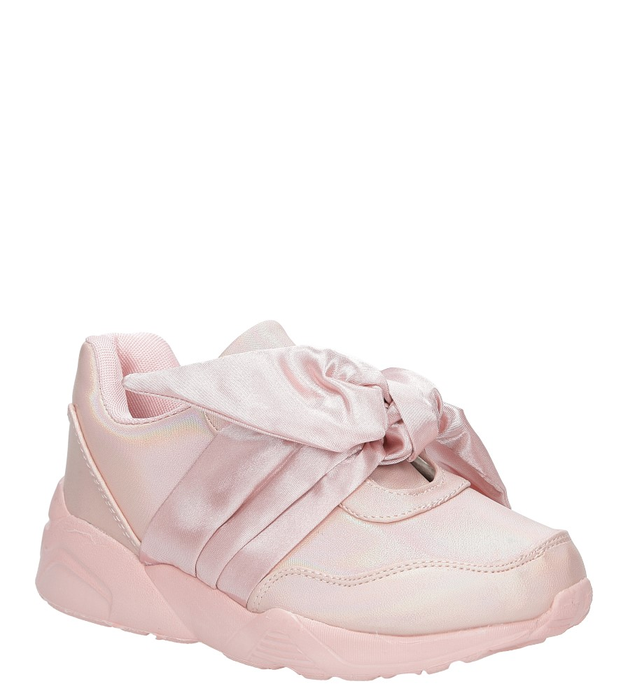 Różowe buty sportowe z kokardą Casu C12033-2 producent Casu
