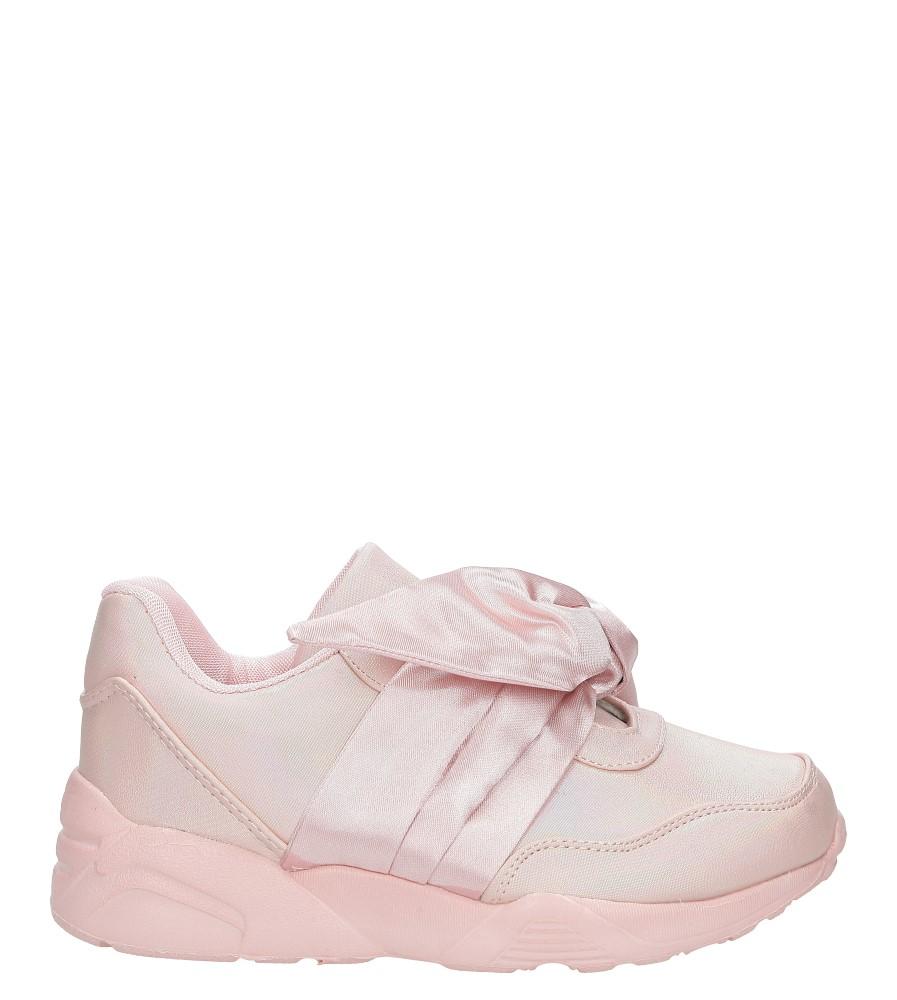Różowe buty sportowe z kokardą Casu C12033-2