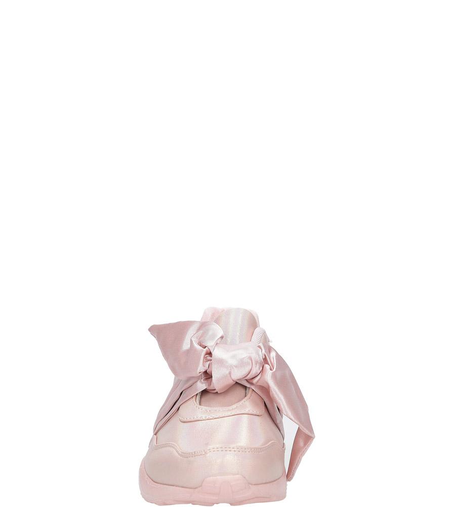 Różowe buty sportowe z kokardą Casu C12033-2 sezon Wczesna wiosna/Jesień