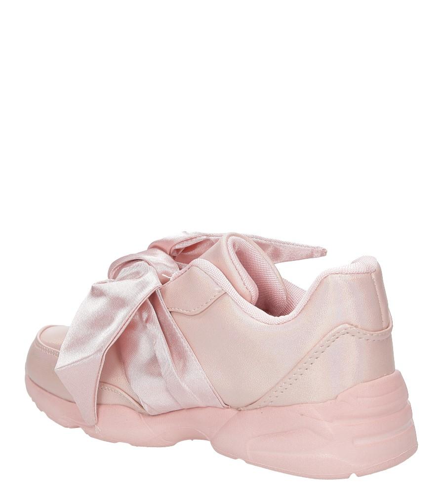 Różowe buty sportowe z kokardą Casu C12033-2 kolor różowy