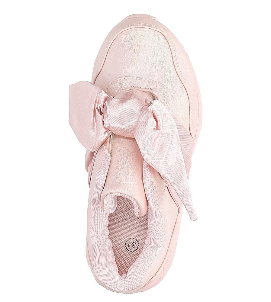 Różowe buty sportowe z kokardą Casu C12033-2 wysokosc_obcasa 3 cm