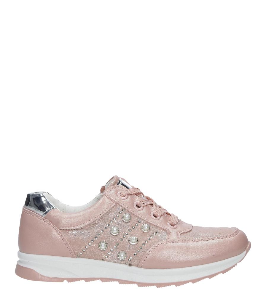 Różowe buty sportowe z ozdobnym suwakiem i perełkami Casu P-237