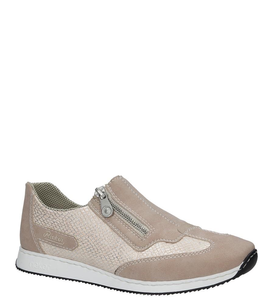 Różowe buty sportowe z ozdobnym suwakiem Rieker 56060-31 różowy