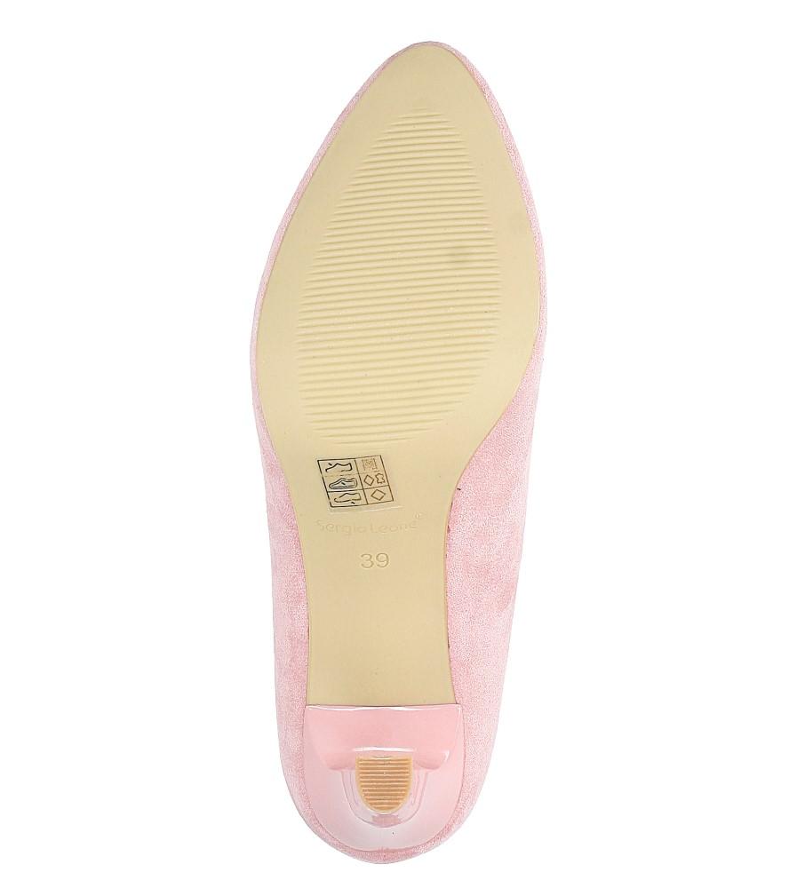 Różowe czółenka ślubne na słupku  Sergio Leone 1457 wys_calkowita_buta 16 cm