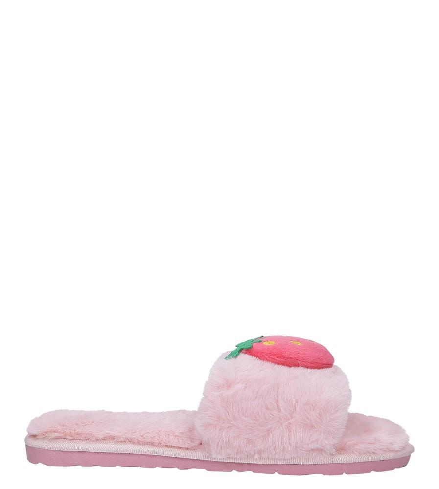Różowe kapcie klapki z futerkiem Casu F-2