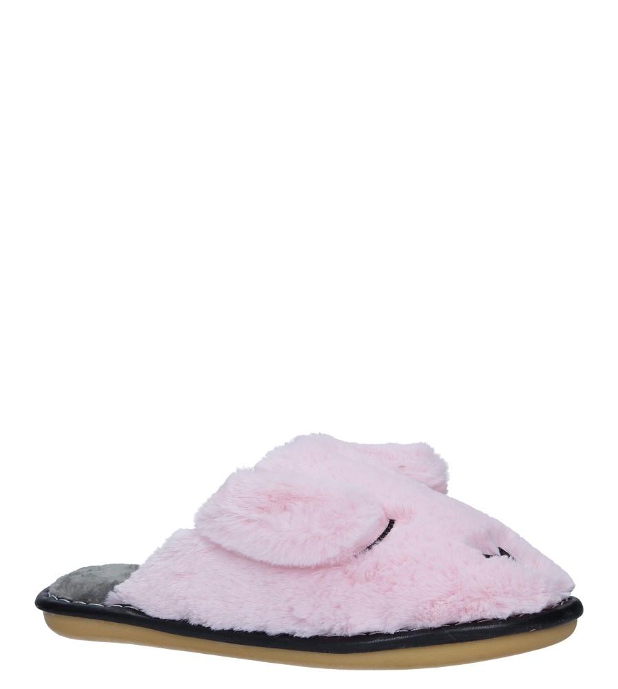 Różowe kapcie pieski z futerkiem Casu CY-13
