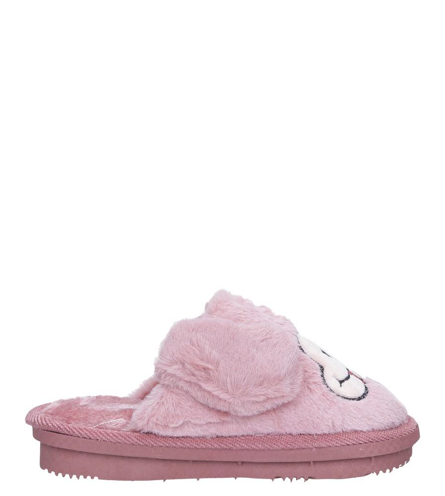 Różowe kapcie pieski z futerkiem Casu CY-17