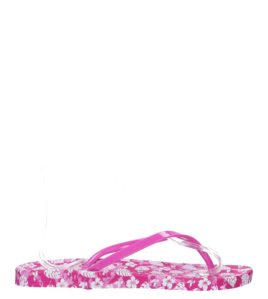 Różowe klapki japonki basenowe w kwiatki Casu 2158-166