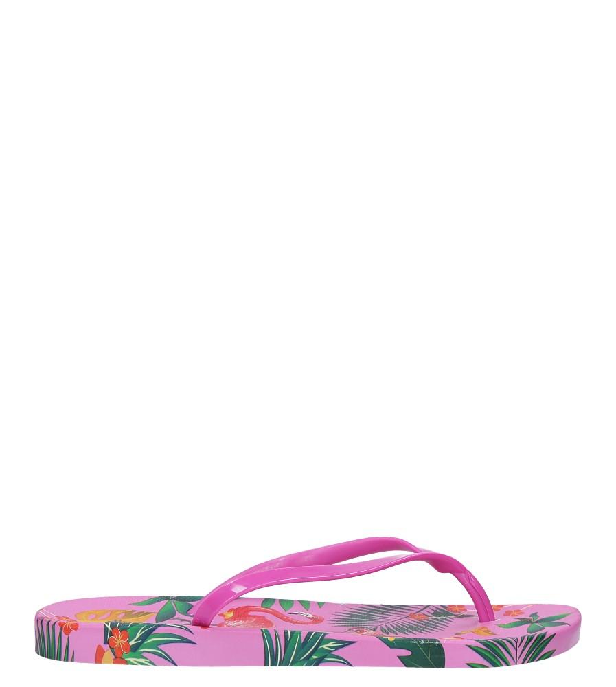 Różowe klapki japonki basenowe z flamingami Casu A2168