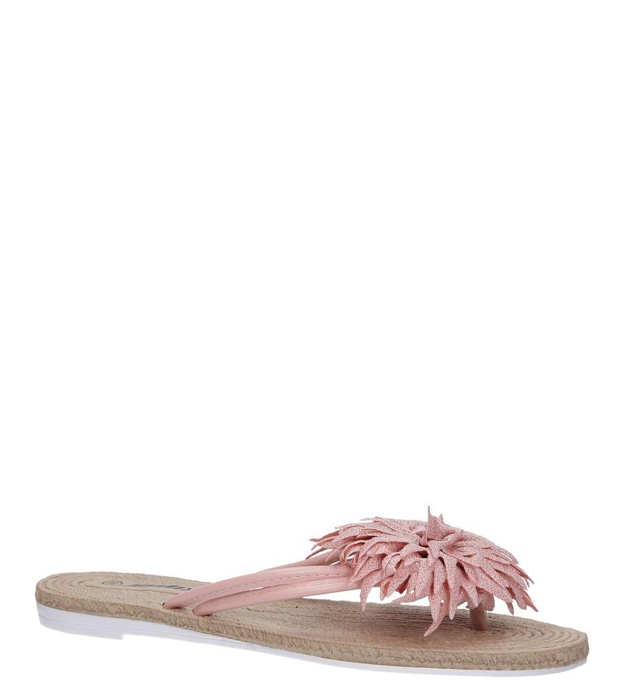 Różowe klapki japonki z kwiatkiem Casu SD0099