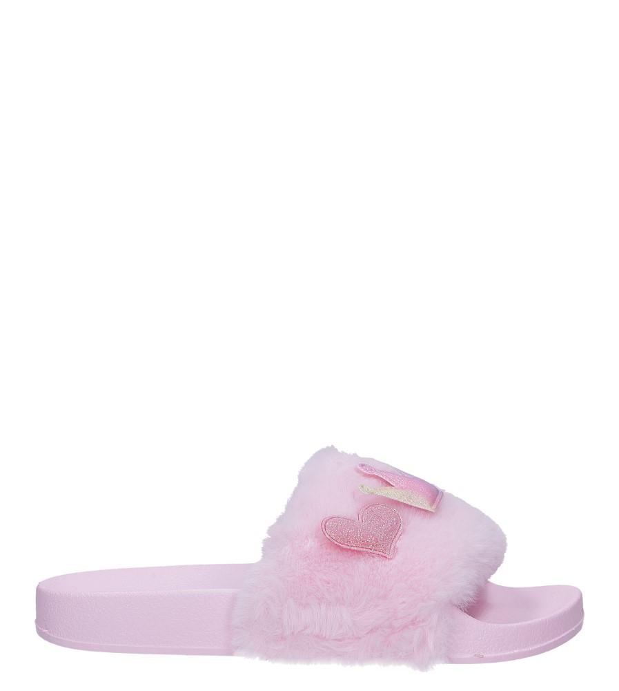 Różowe klapki kapcie z futerkiem Casu 8-3