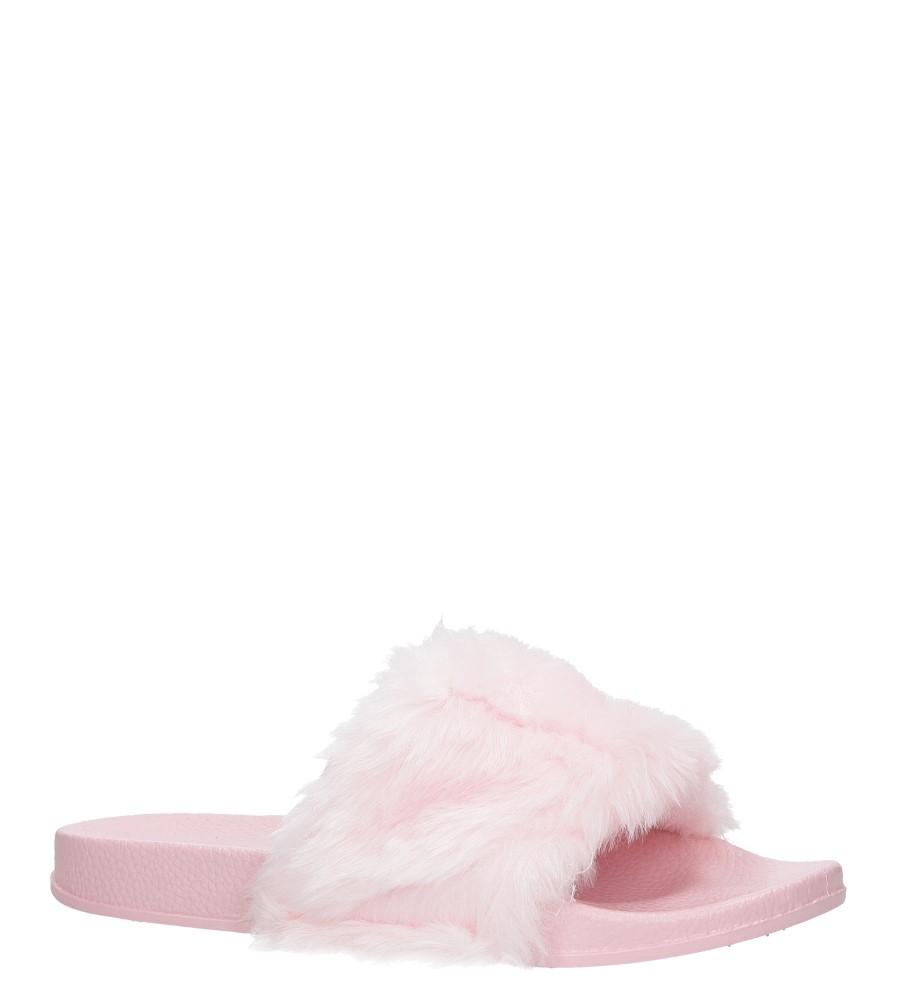 Różowe klapki z futerkiem Casu SAM04A