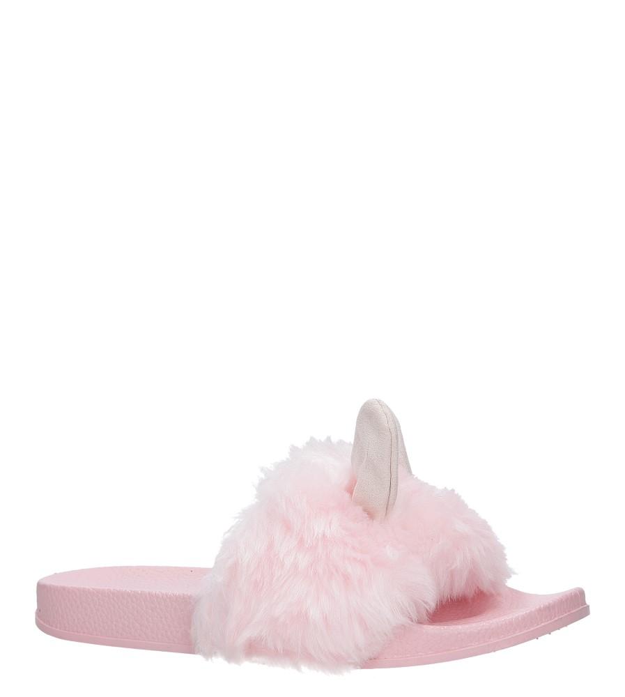 Różowe klapki z futerkiem i uszkami Casu SAM03A