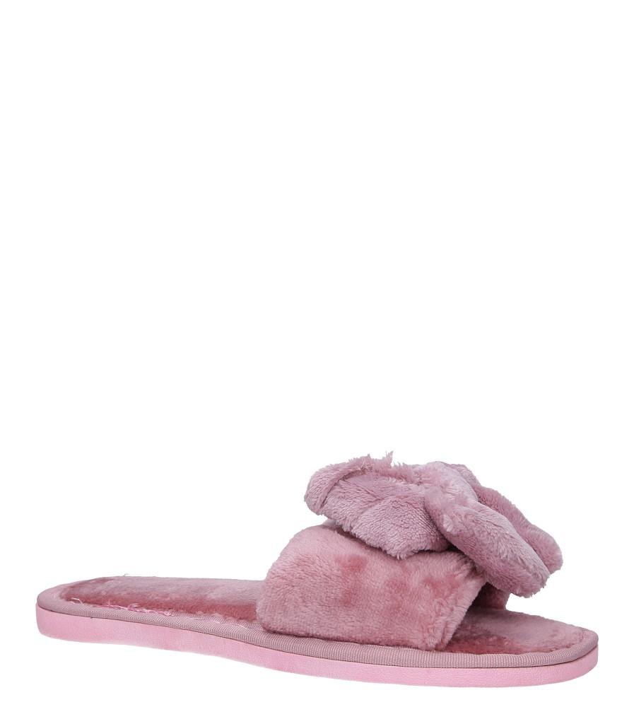 Różowe klapki z futerkiem kokarda Casu WT-3