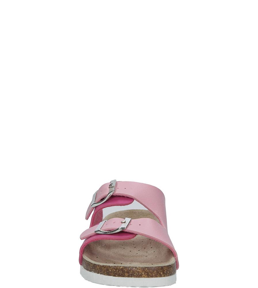 Różowe klapki z klamrami American MS-18-09 sezon Całoroczny