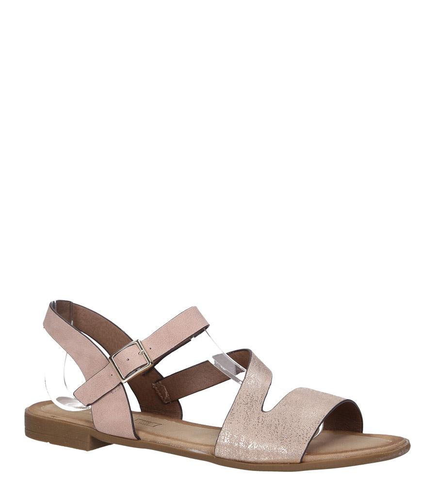 Różowe lekkie sandały płaskie błyszczące Casu K19X9/P